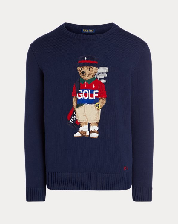 Golf Polo Bear Cotton-Blend Sweater
