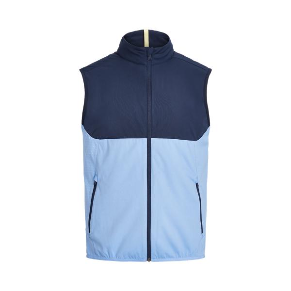 폴로 랄프로렌 남성 골프웨어 발수 조끼 Polo Ralph Lauren Water Repellent Mockneck Vest,French Navy/Fall Blue