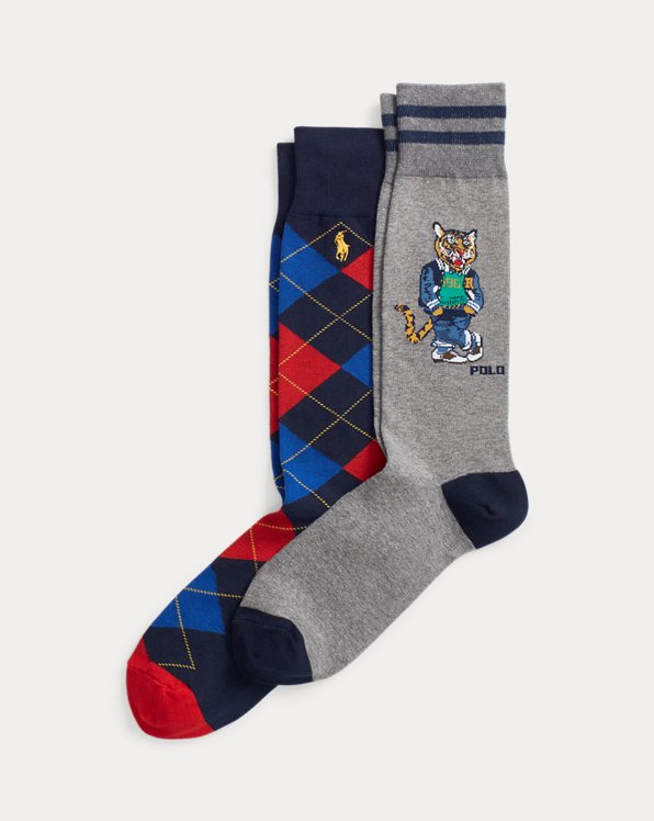 Tiger & Argyle Sock 2-Pack