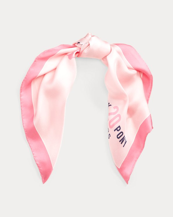 Pink Pony Silk Bandanna