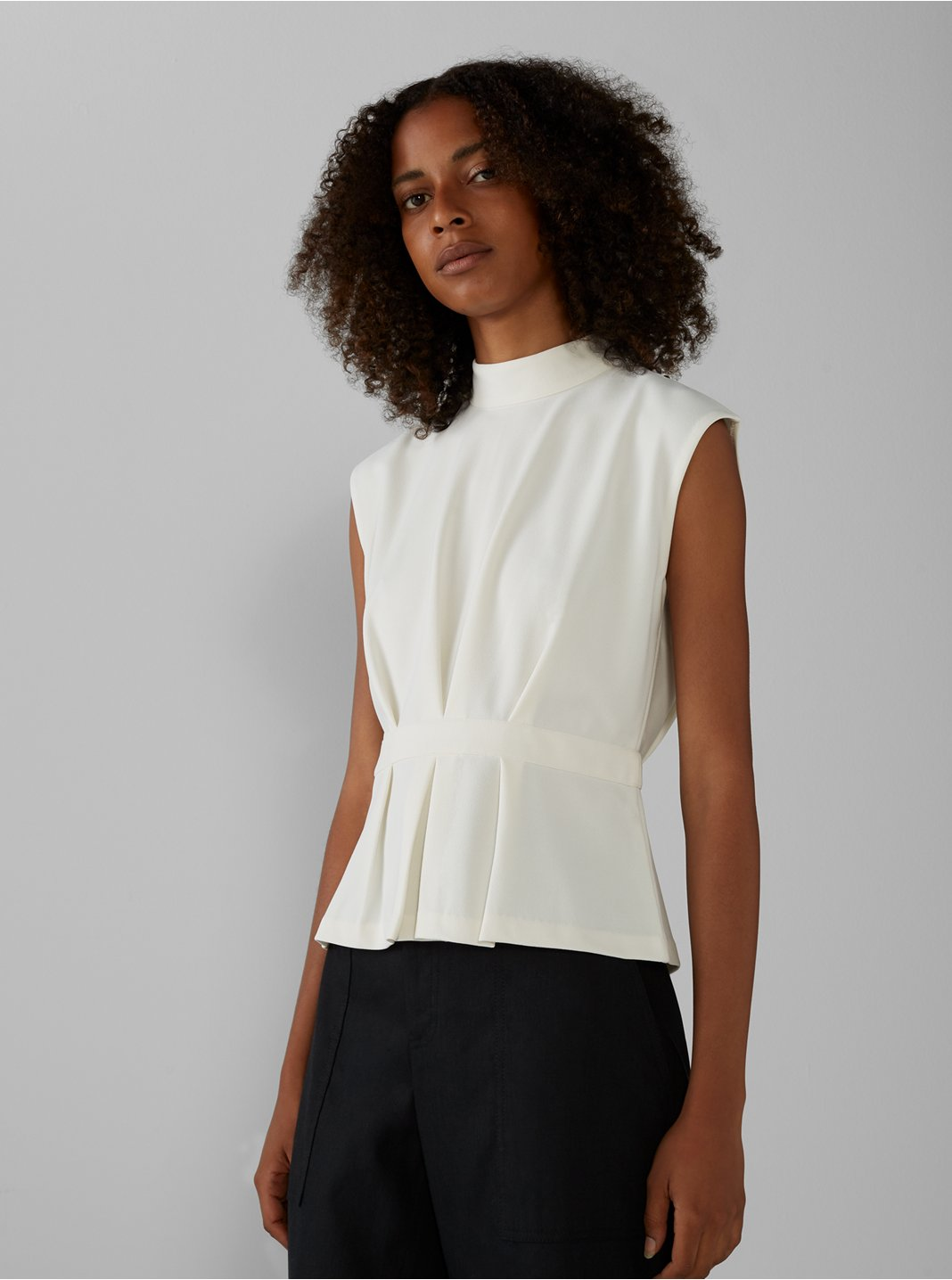 Pleated Waist Top