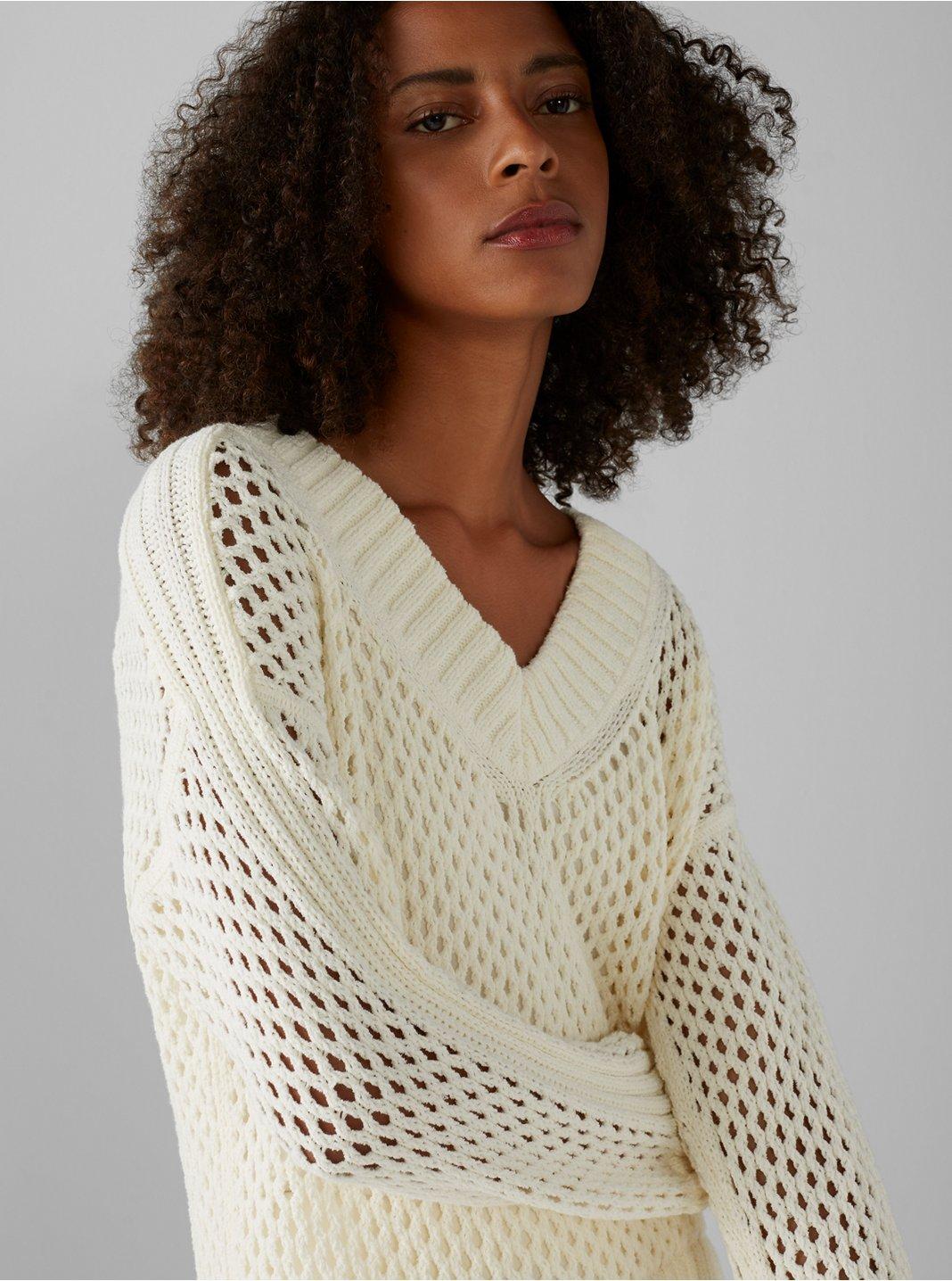Mesh Boucle Sweater