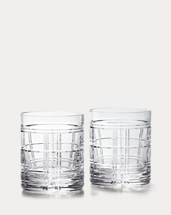 Hudson Plaid Double-Old-Fashioned Set