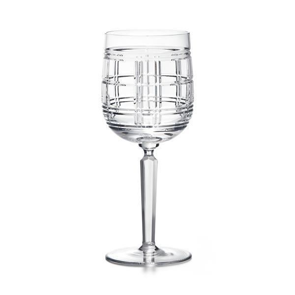 Hudson Plaid Red Wine Glass