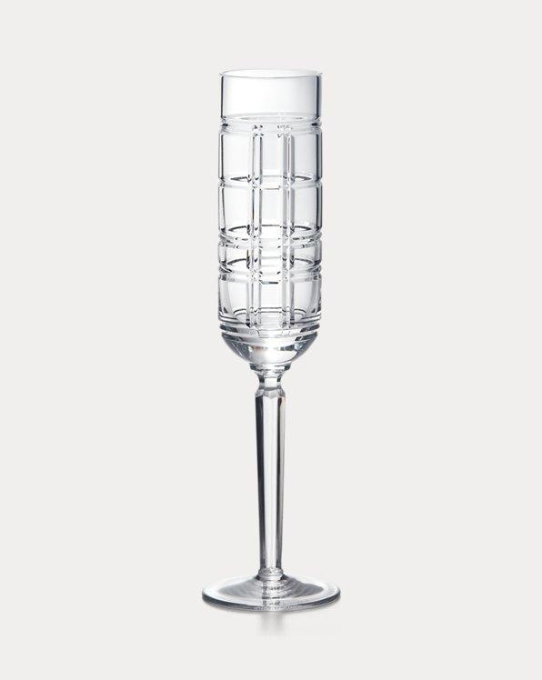 Hudson Plaid Champagne Flute