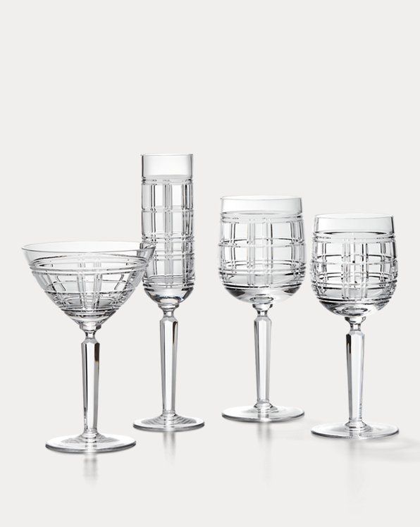 Hudson Plaid Martini Glass