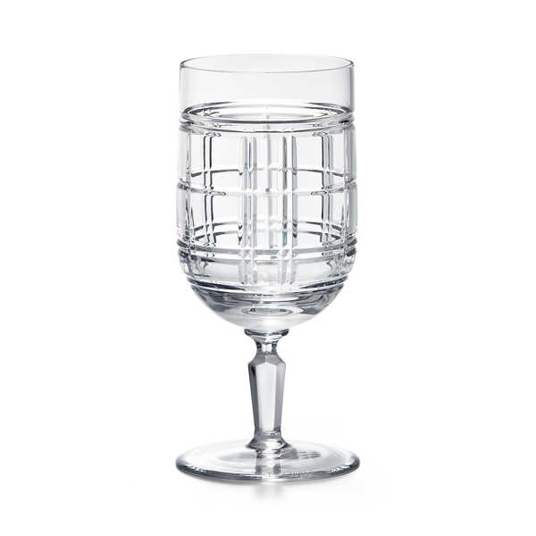 Hudson Plaid Beverage Glass