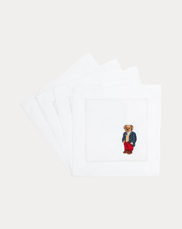 Polo Bear Cocktail Napkin Set