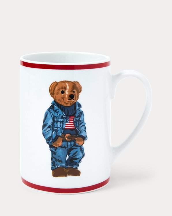 Becher mit Denim Polo Bear