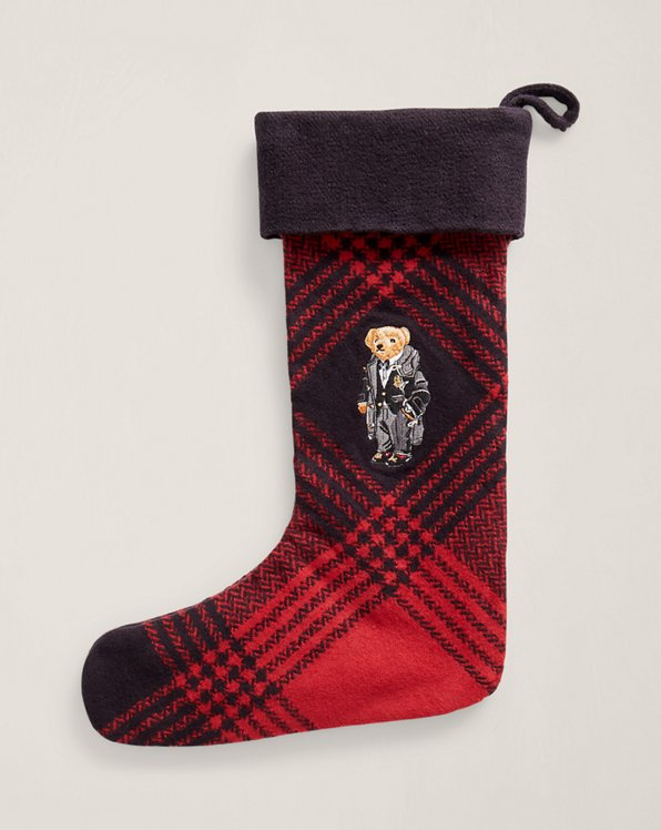 Chaussette de Noël écossaise Polo Bear
