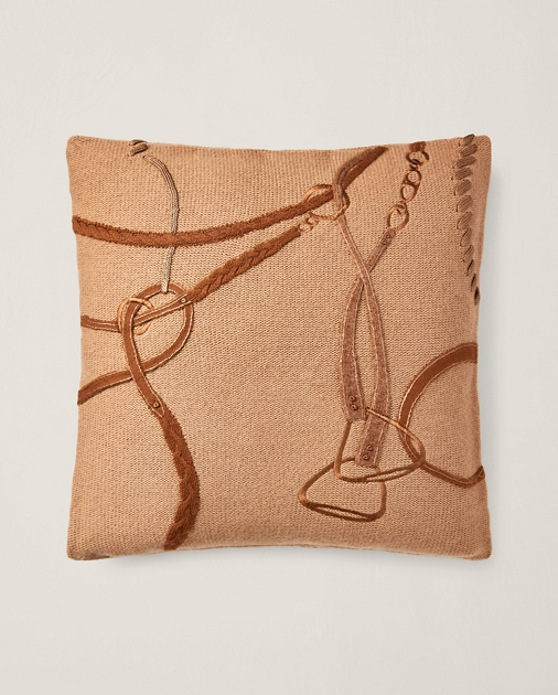 Equestrian Knit Throw Pillow