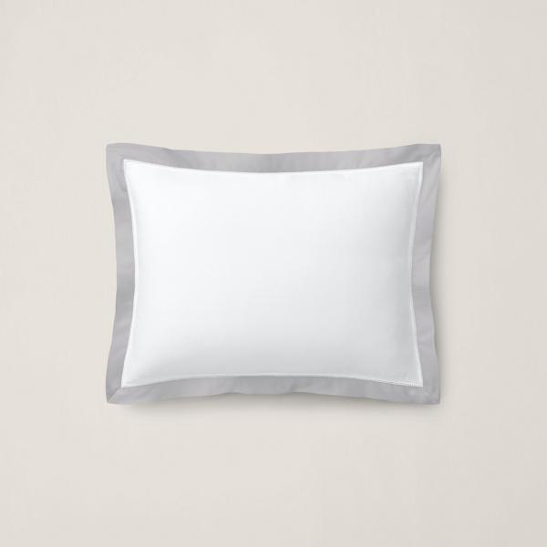 Organic Cotton Sateen Border Pillow