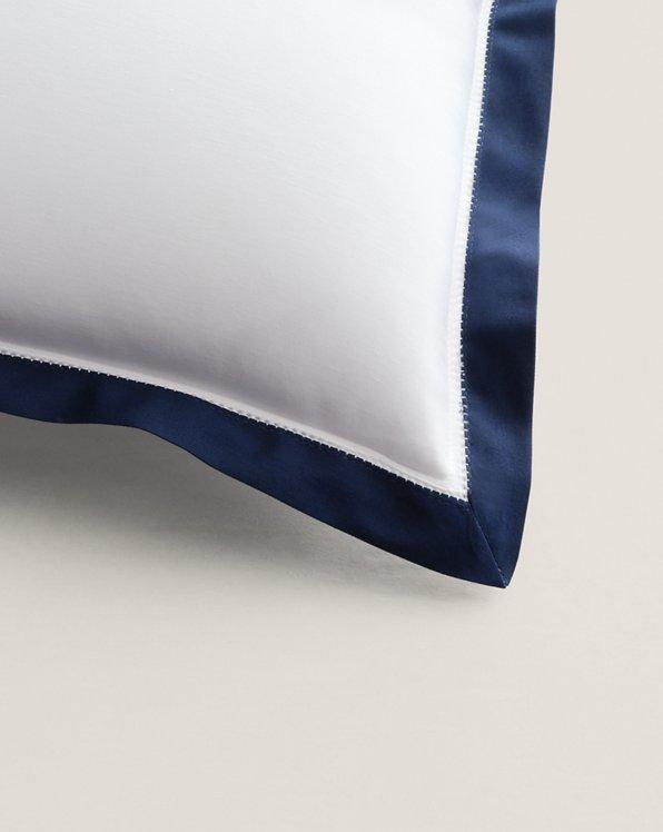 Organic Sateen Border Pillow