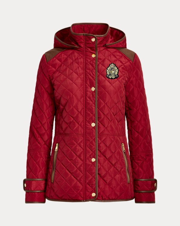 Crest-Patch Quilted Jacket