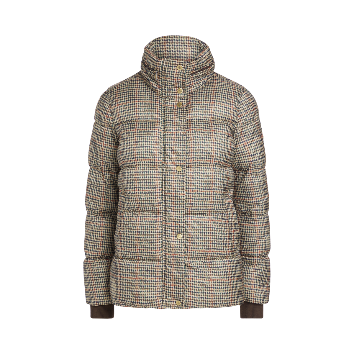 Houndstooth Puffer Jacket