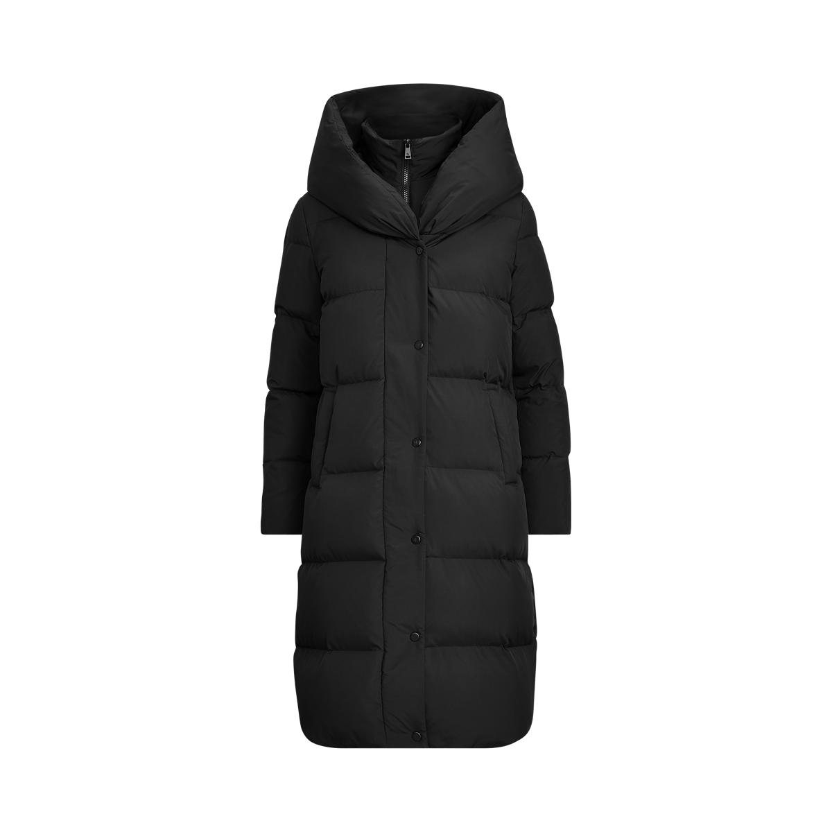 Oversize-Collar Down Coat