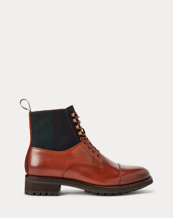 Bryson Leather & Wool Cap-Toe Boot