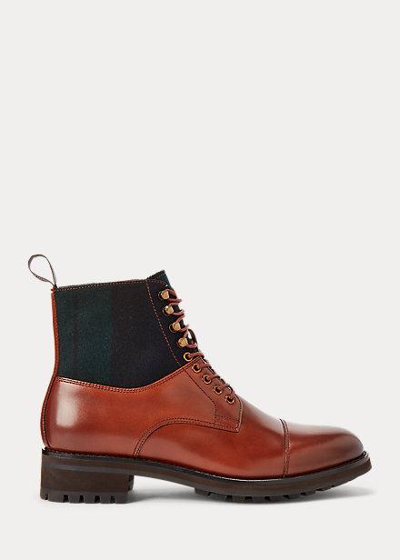 Polo RalphLauren Bryson Leather  Wool Cap-Toe Boot