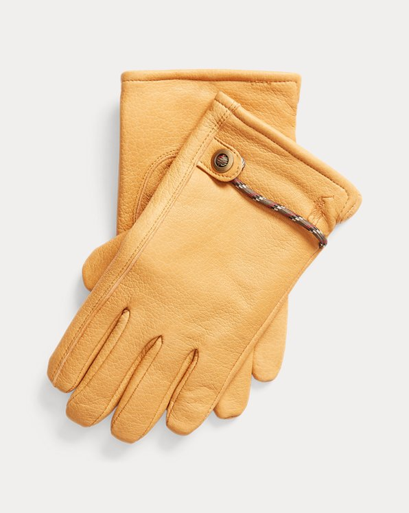 Full-Grain Leather Insulated Gloves