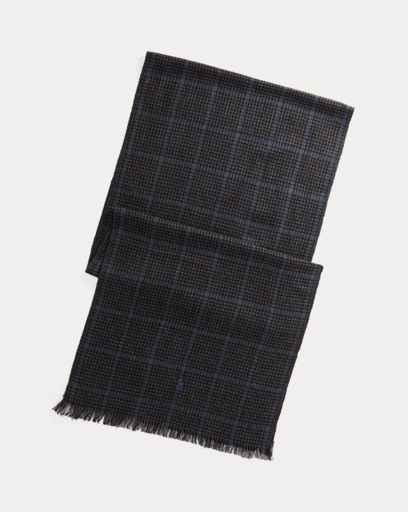 Plaid Merino Wool Scarf