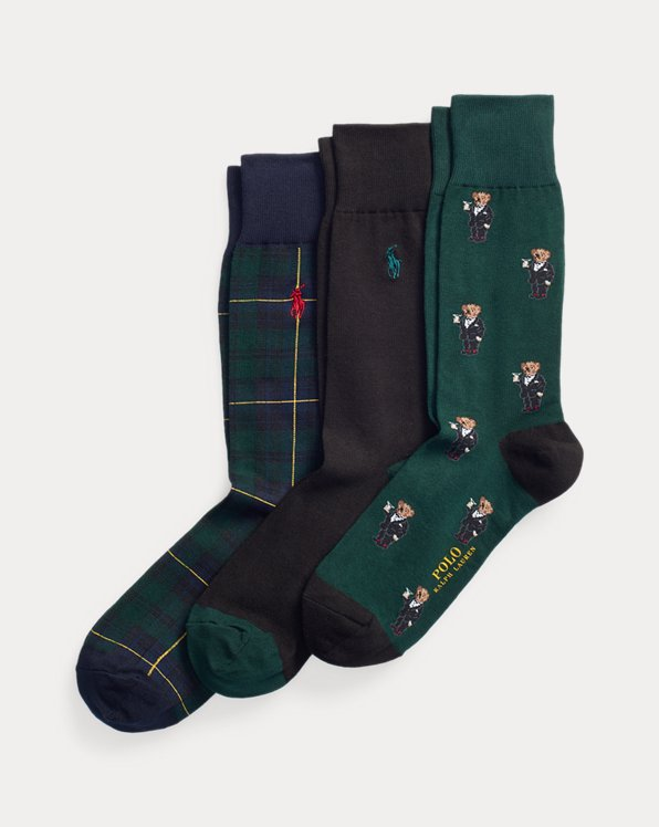 Polo Bear Crew Sock Gift Set