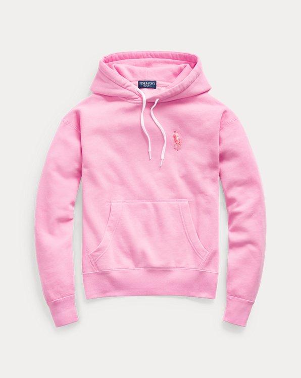 Fleece-Kapuzenshirt mit Pink Pony
