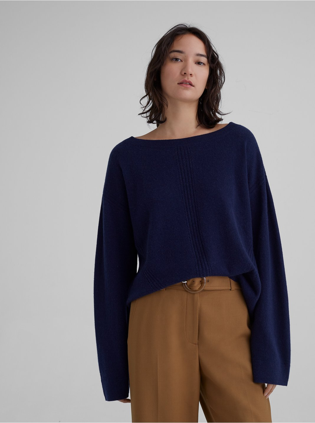 Cashmere Pointelle Knit Sweater