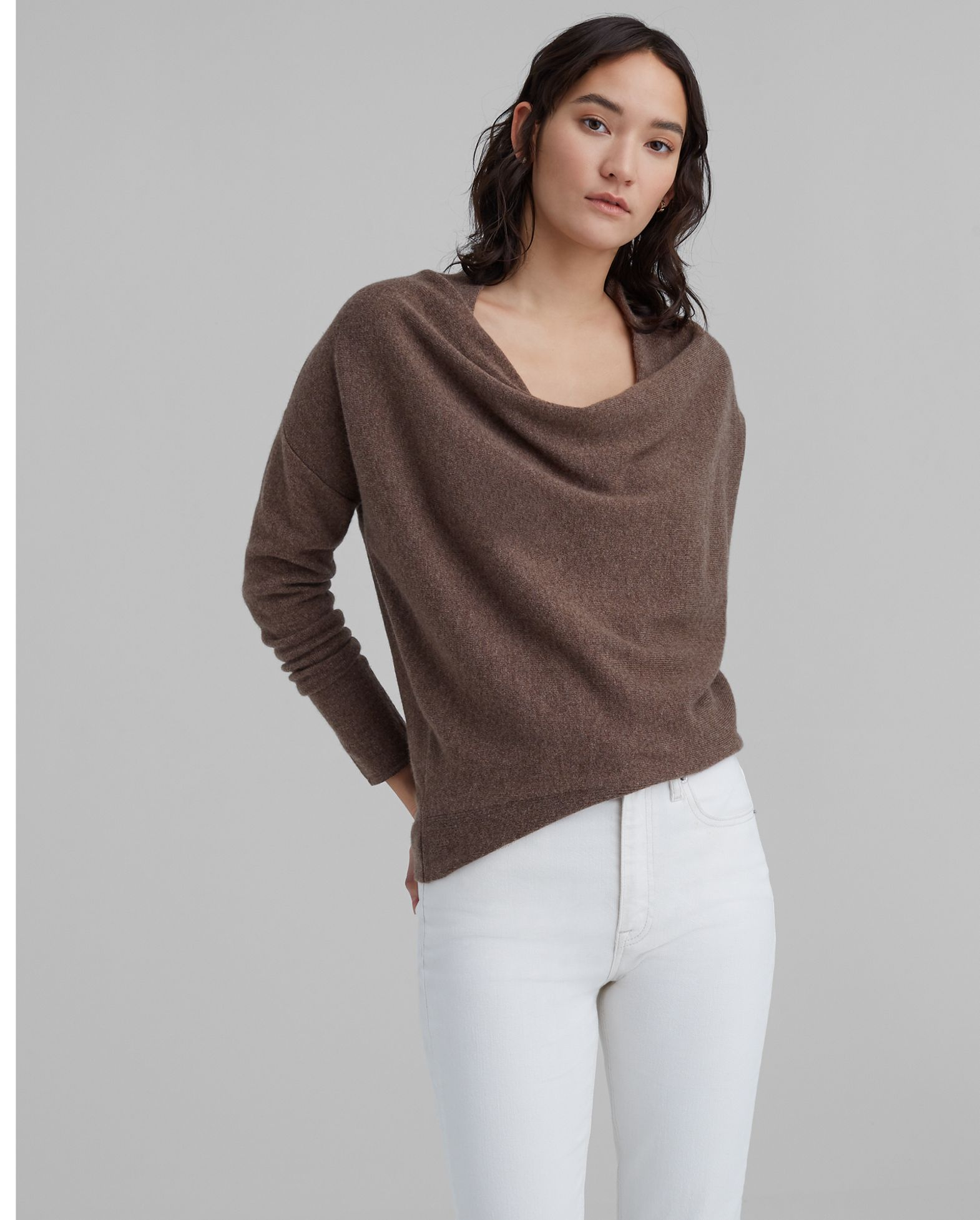 CLUB MONACO Cowl Neck Cashmere Sweater