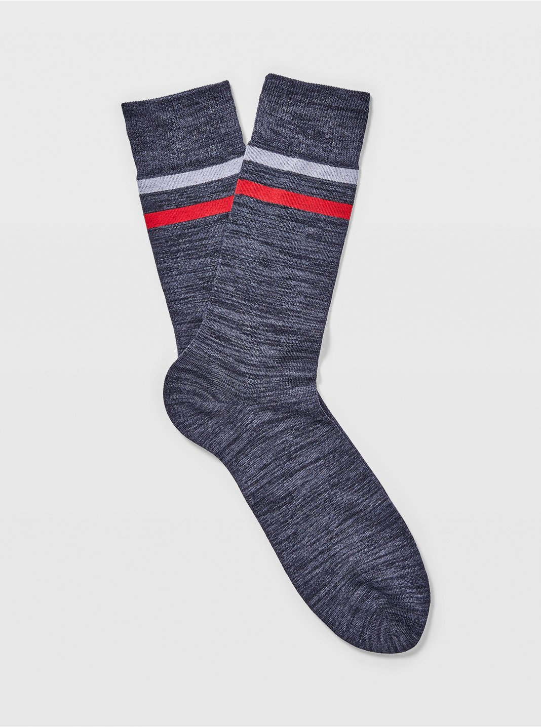 Spacedyed Two-Stripe Socks