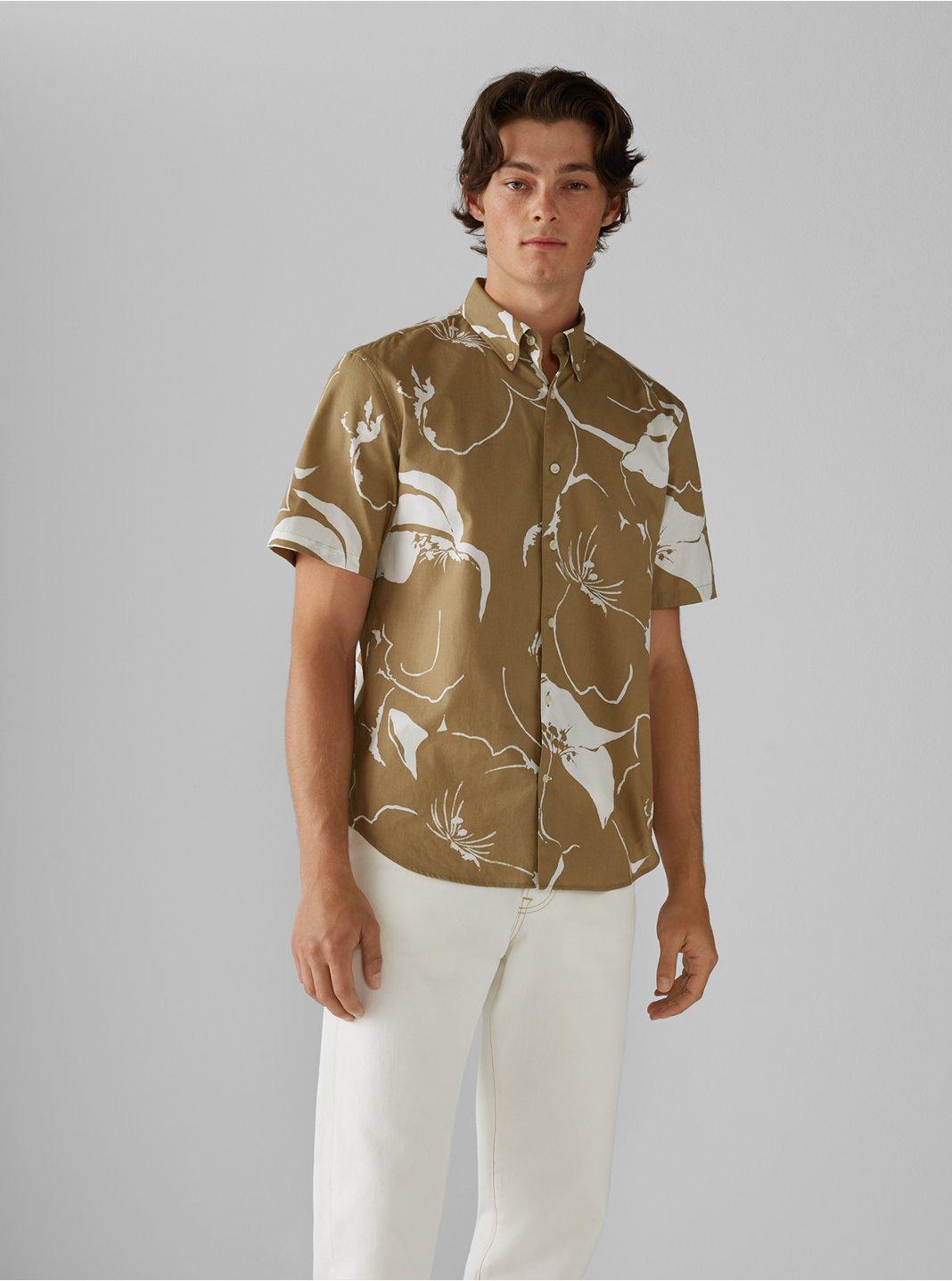 Short Sleeve Floral Wave Shirt