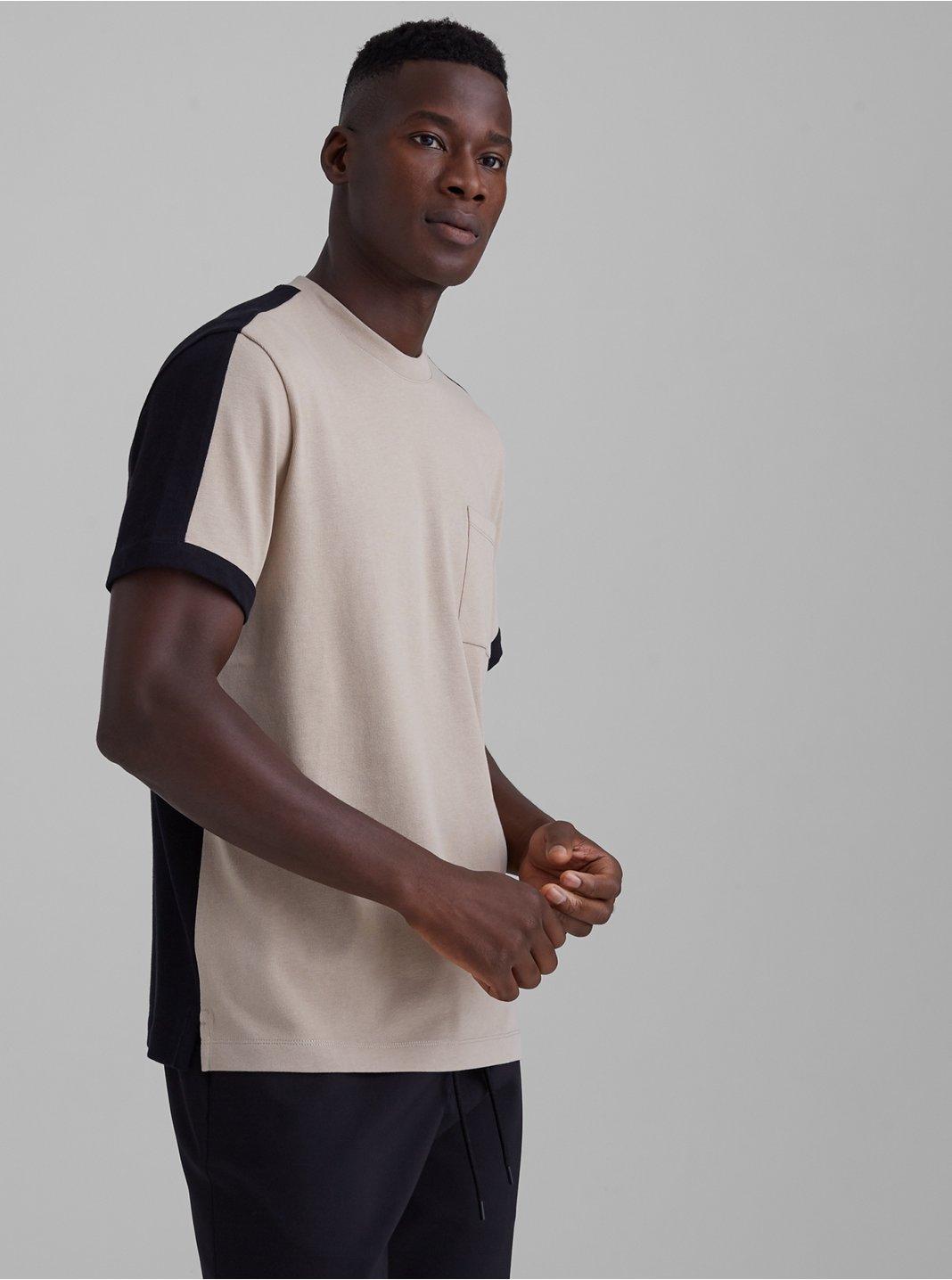 T-shirt à bloc de couleurs