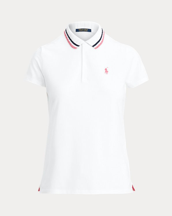 Tailored Fit Striped-Collar Polo