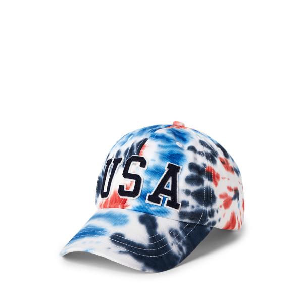 Ralph Lauren Team Usa Tie-dye Chino Ball Cap In Multi