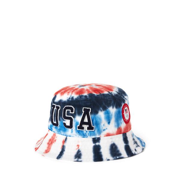 Ralph Lauren Team Usa Tie-dye Chino Bucket Hat In Multi