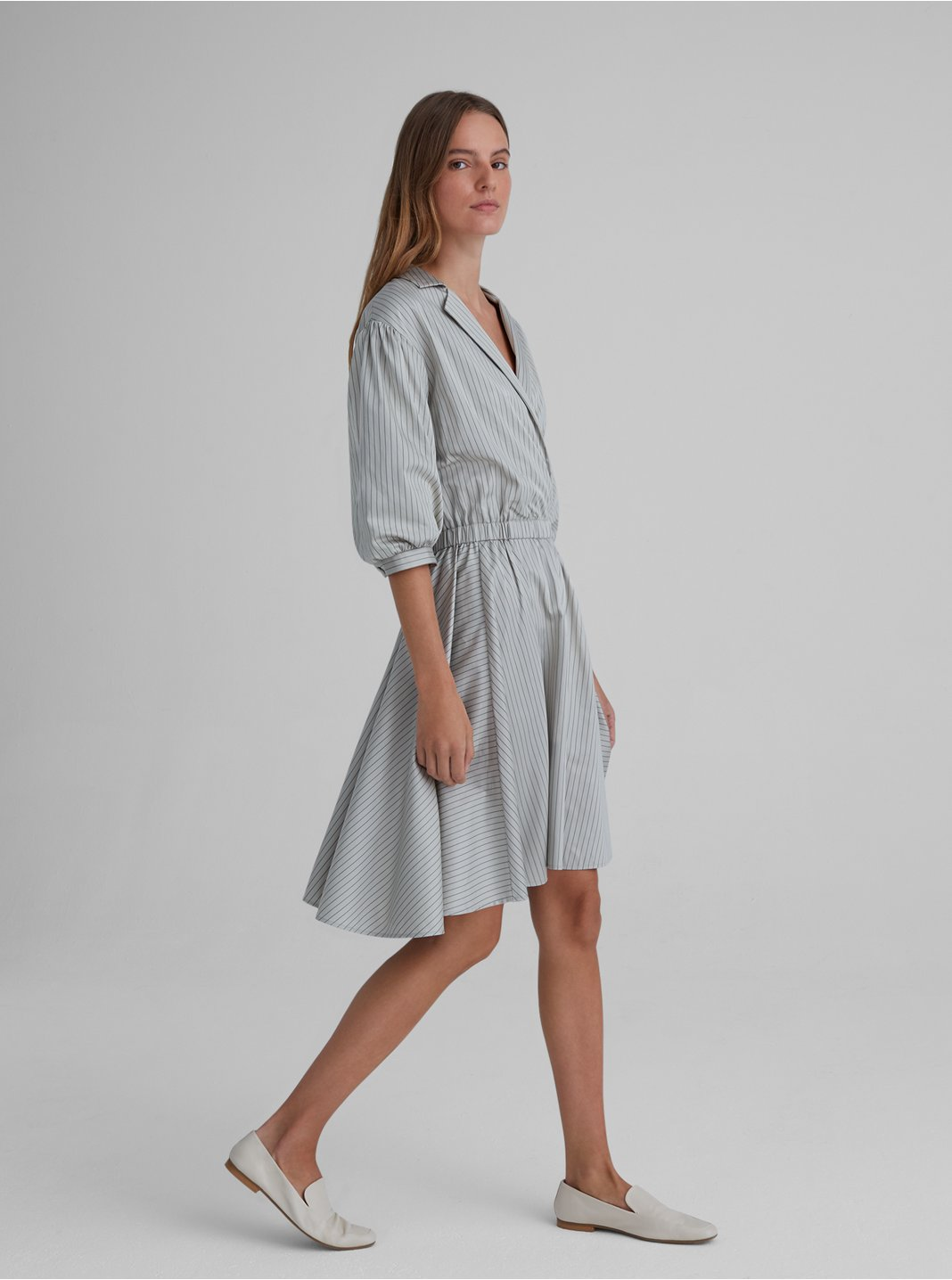 Collared A-Line Dress