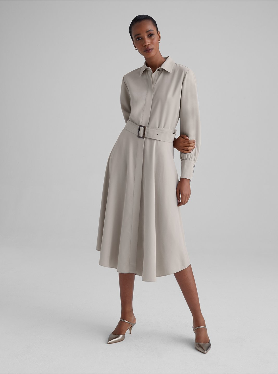 Curved Hem Shirtdress