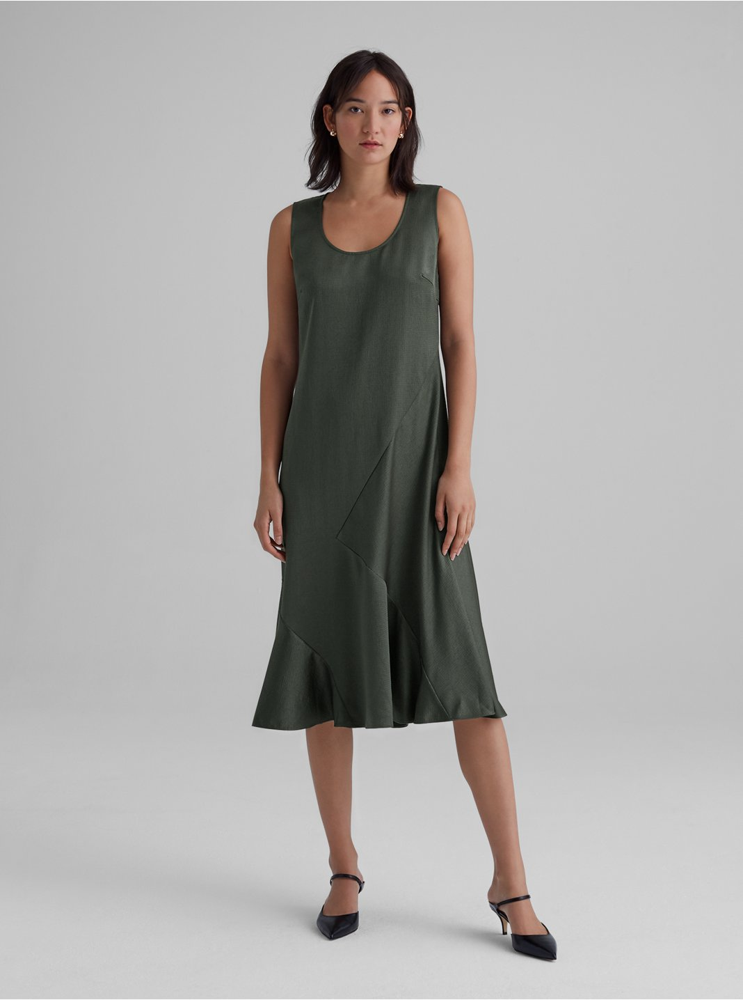 Seamed Bias Dress