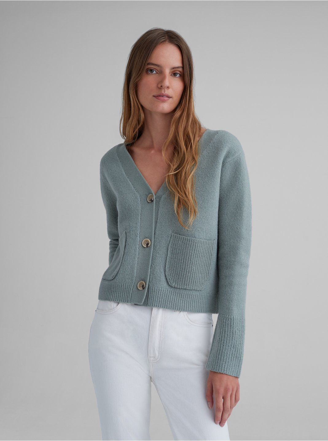 Boiled Wool Cardigan