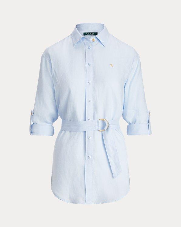 Belted Linen Shirt