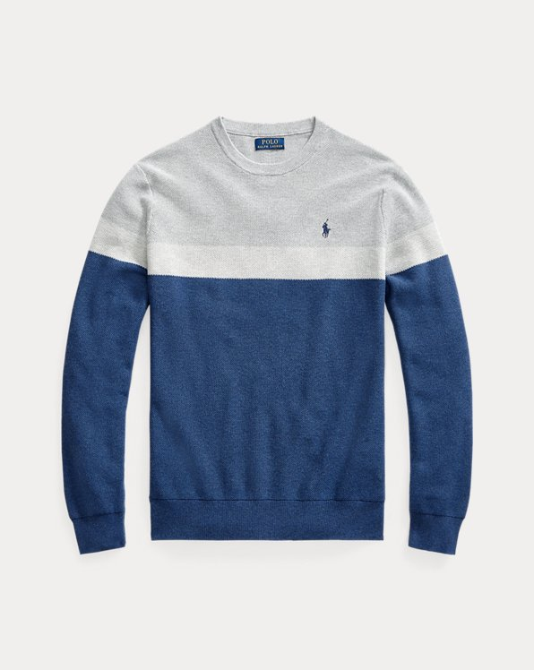 Colour-Blocked Cotton Jumper