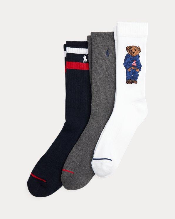 Denim Bear Crew Sock 3-Pack