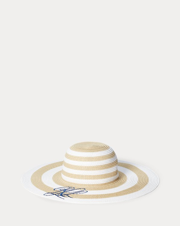Striped Paper Sun Hat