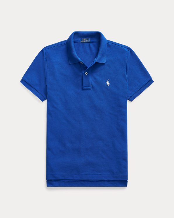 Skinny Fit Mesh Polo Shirt