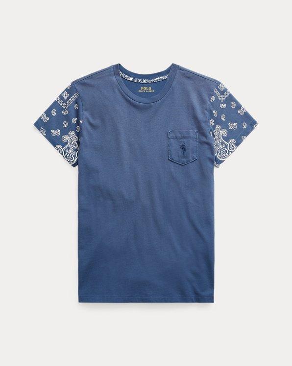 Bandanna-Print Cotton Tee