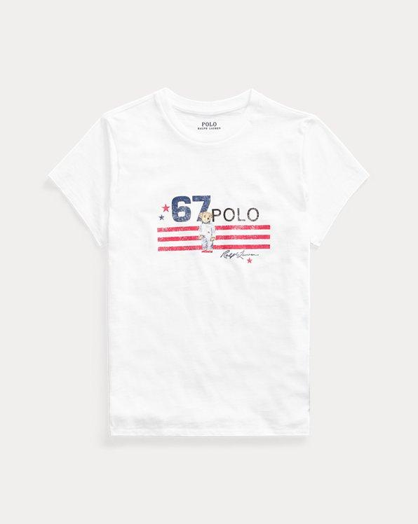 T-shirt Polo Bear jersey de coton