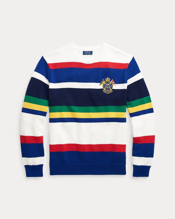 Yacht-Crest Cotton Jumper
