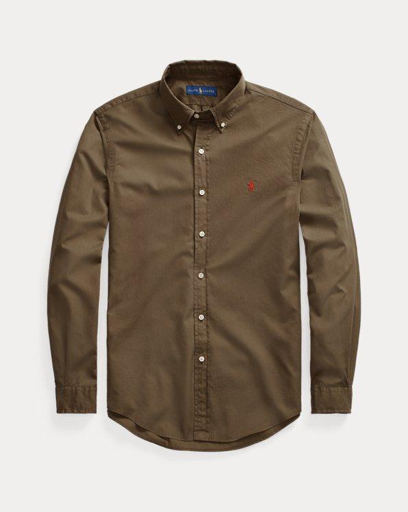 Slim Garment-Dyed Twill Shirt