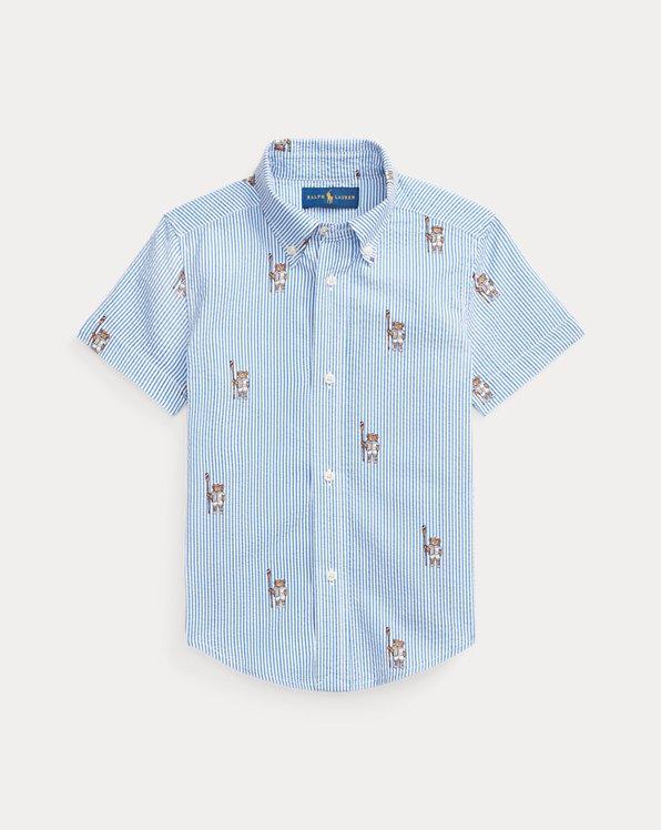 Polo Bear Cotton Seersucker Shirt
