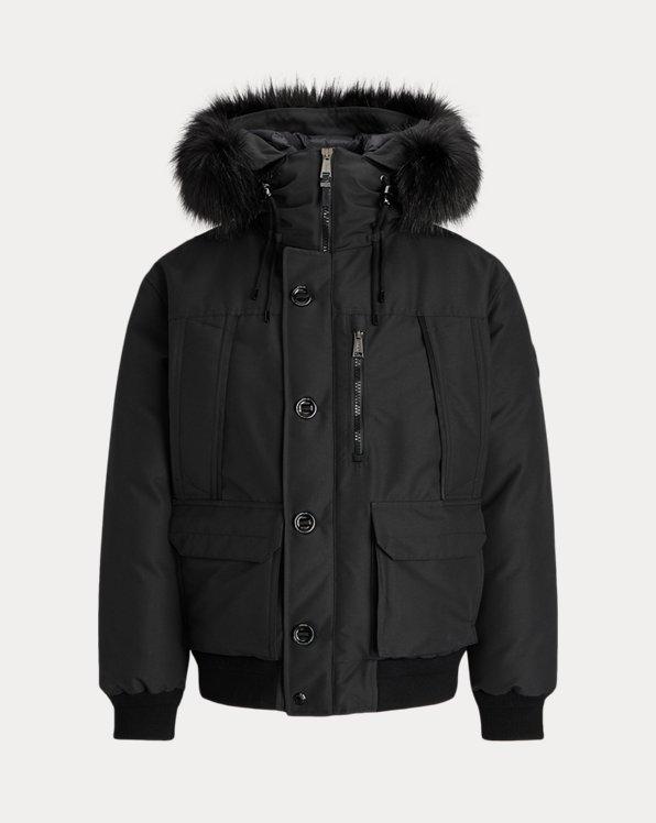 Faux-Fur Water-Repellent Down Jacket