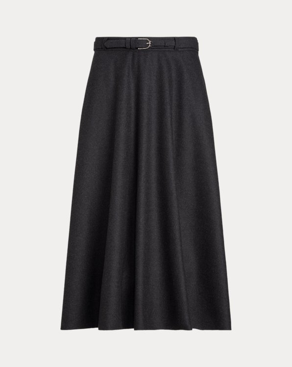 Erica Virgin Wool Flannel A-Line Skirt